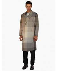 Paul Smith Brown Checked Double Breasted Coat
