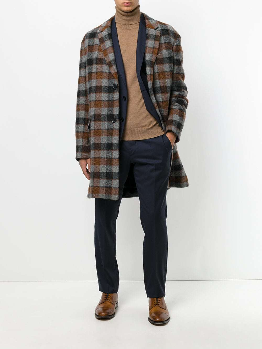 Lanvin Checked Coat