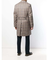 Lardini Checked Double Breasted Coat