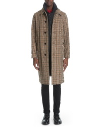 Burberry Lenthorne Check Car Coat With Detachable Vest
