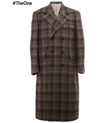 Thom Browne Long Checked Overcoat