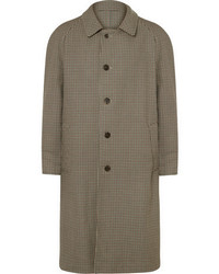Maison Margiela Reversible Gingham Wool And Cotton Twill Trench Coat