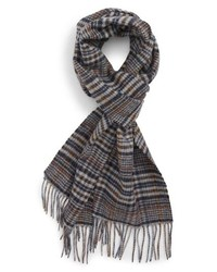 Nordstrom Men's Shop Tattersall Cashmere Scarf