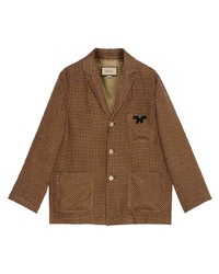Gucci Notched Lapel Single Breasted Jacket