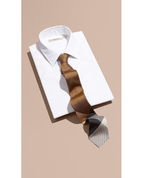 Burberry Modern Cut Check Jacquard Silk Tie