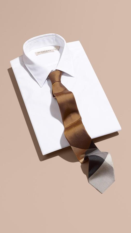 1bbabf9c93dc ... Burberry Modern Cut Check Jacquard Silk Tie ...