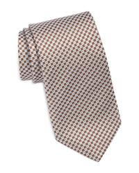 David Donahue Patterned Silk Tie