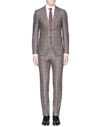 Isaia Cortina Windowpane Check Wool Suit