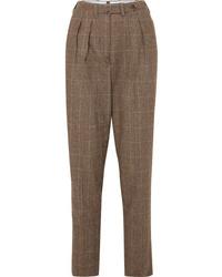 Giuliva Heritage Collection Husband Herringbone Merino Wool Tapered Pants