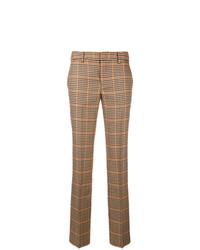Pt01 Plaid Slim Tailored Trousers