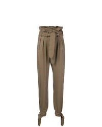 ATTICO Tied Cuff Check Trousers