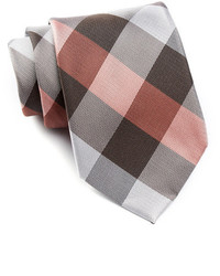 Brown Check Tie