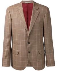 Brunello Cucinelli Check Print Blazer