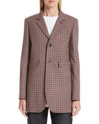 Balenciaga Check Stretch Wool Blazer