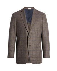 Peter Millar Classic Fit Windowpane Stretch Wool Sport Coat