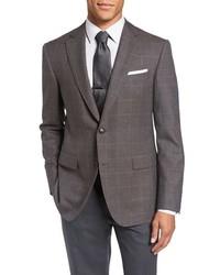 Classic fit windowpane wool alpaca sport coat medium 816352