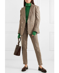 Hillier Bartley Checked Double Breasted Wool Blazer