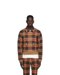 Gucci Brown Wool Cut And Sewn Jacket