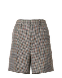 Maison Margiela High Waisted Plaid Shorts