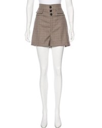 Wool high rise shorts medium 6842595