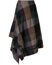 Etro Checked Asymmetric Skirt