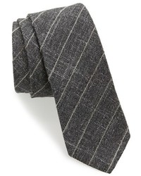 BOSS Check Wool Blend Skinny Tie