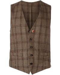 Checked waistcoat medium 752032