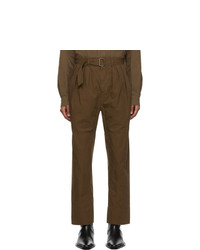 Lemaire Brown 4 Pleats Trousers