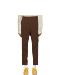 Needles Brown Doeskin Warm Up Track Pants