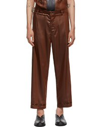 SASQUATCHfabrix. Brown Faux Leather Easy Trousers