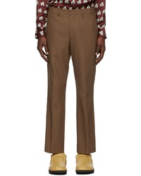 Dries Van Noten Brown Gabardine Trousers