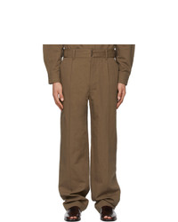 Lemaire Brown Military Chino Trousers
