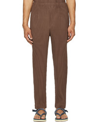 Homme Plissé Issey Miyake Brown Monthly Color May Trousers