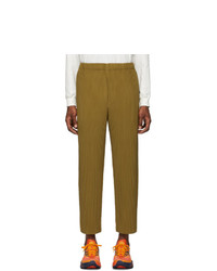 Homme Plissé Issey Miyake Brown Pleated Trousers