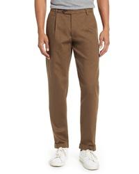 Ted Baker London Charl Slim Wide Leg Cotton Blend Pants