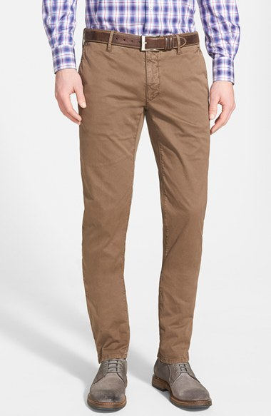 Chinos Slim Fit light brown Incotex G2dEy