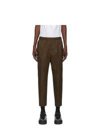 Jil Sander Khaki Gabardine Cropped Trousers