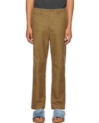 VISVIM Khaki Tapered Chino Trousers