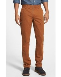 Obey Working Man Ii Straight Leg Chinos Brown 34