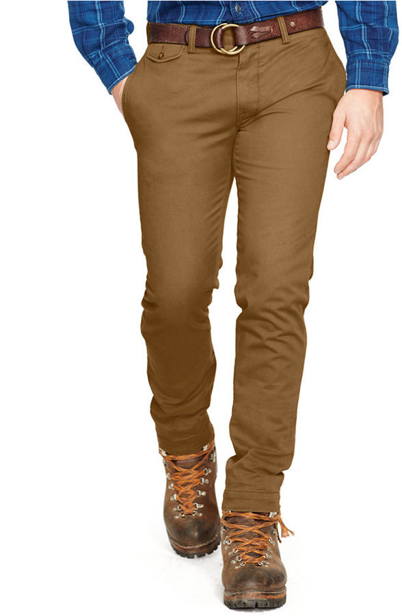 Men's Fashion › Pants › Chinos › Brown Chinos Polo Ralph Lauren Slim Fit  Bedford Chino Pants ...