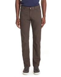 Canali Stretch Cotton Silk Five Pocket Trousers
