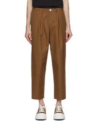 Marni Tan Twill Darted Trousers