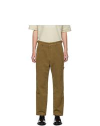 AMI Alexandre Mattiussi Tan Worker Straight Fit Trousers