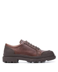 Brunello Cucinelli Panelled Derby Shoes