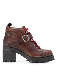Miu Miu Chunky Lace Up Boots