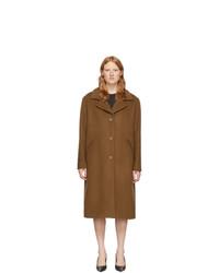 McQ Alexander McQueen Brown Wool Casual Welt Coat