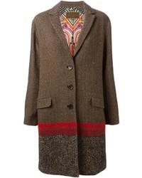 Etro Panelled Tweed Overcoat