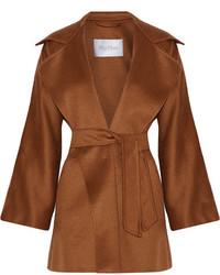Gas cashmere wrap coat brown medium 3659731
