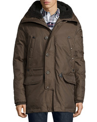 Spiewak Tech N3 B Snorkel Hooded Coat Brown