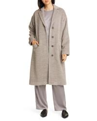 Eileen Fisher Wool Alpaca Blend Long Coat